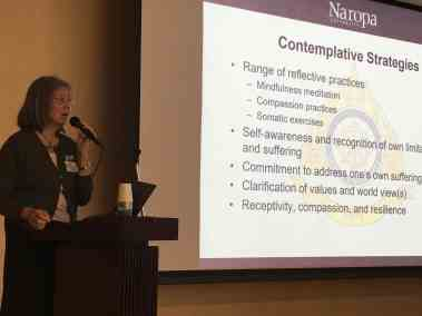 Prof. Elaine Yuen, Associate Professor and Chair of the Department of Wisdom Traditions at Naropa University