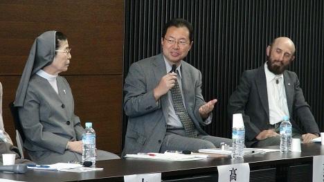 Sister Takagi, Rev. Tanji, and Prof. Becker share their thoughts