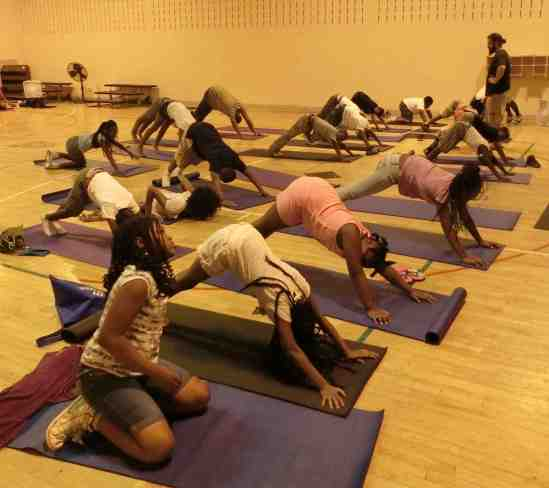 yoga at Holistic Life Foundation's summer camp