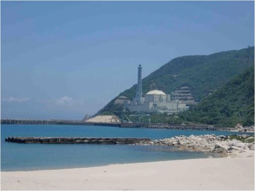 The Monju Reactor on the crystal white sand beaches of Wakasa