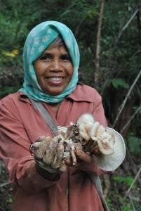 mushroom woman
