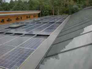 "solar panels at new ""office in the forest"""