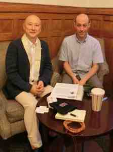Rev. Jin with Dean Matt Weiner
