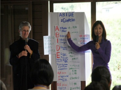 Rev. Halifax during her second GRACE training for medical care givers in Japan, April 2016