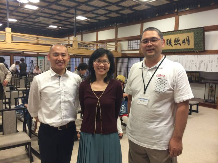 Rev. Daihaku Okochi (left) & Rev. Yozo Taniyama (right) both working to train and develop Buddhist chaplains